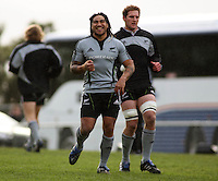 M'a Nonu and Kieran Read. All Blacks Training Session at Rugby League Park, Newtown, Wellington. Thursday 9 July 2009. Photo: Dave Lintott/lintottphoto.co.nz