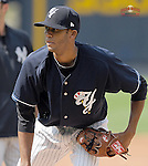 Pitcher D.J. Mitchell of the Scranton/Wilkes-Barre Yankees, International League affiliate of the New York Yankees, iprior to a game against the Norfolk Tides on June 20, 2011, at PNC Park in Moosic, Pa. (Tom Priddy/Four Seam Images)