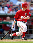 17 June 2006: Robert Fick (left), pinch hitting for the Washington Nationals, at bat against the New York Yankees at RFK Stadium, in Washington, DC. The Nationals overcame a seven run deficit to win 11-9 in the second game of the interleague series...Mandatory Photo Credit: Ed Wolfstein Photo...