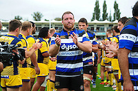 Henry Thomas of Bath Rugby acknowledges supporters after the match. Aviva Premiership match, between Bath Rugby and Worcester Warriors on September 17, 2016 at the Recreation Ground in Bath, England. Photo by: Patrick Khachfe / Onside Images