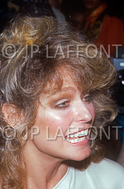 """Manhattan, New York City - February 06, 1978. Farrah Fawcett at the Fabrege party held at Studio 54. (February 2, 1947 - June 25, 2009) She was an American actress and artist, who rose to international fame when she posed for poster as private investigator Jill Munroe in the first season of television series Charlie's Angels (1976-77). Notably, Fawcett was ranked No.26 on TV Guide's """"50 Greatest TV Stars of All Time"""" list, as well as starred in television movies such as The Burning Bed and Poor Little Rich Girl: The Barbara Hutton Story."""