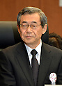 June 8, 2012, Tokyo, Japan - Masataka Shimizu, former president of Tokyo Electric Power Co., testified before the Diet-appointed panel investigating the Fukushima Daiichi nuclear power plant disaster during its meeting in Tokyo on Friday, June 08, 2012...Shimizu, who stepped down in June last year to take responsibility for the calamity, has stirred controversy over what the government regarded as a proposal to withdraw all workers from the crippled plant operated by the utility in the early days of the nuclear crisis. Three of the six reactors at the plant suffered meltdowns following the devastating earthquake and tsunami on March 11, 2011. (Photo by Natsuki Sakai/AFLO) AYF -mis-.