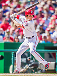 20 September 2015: Washington Nationals infielder Trea Turner in action against the Miami Marlins at Nationals Park in Washington, DC. The Nationals defeated the Marlins 13-3 to take the final game of their 4-game series. Mandatory Credit: Ed Wolfstein Photo *** RAW (NEF) Image File Available ***