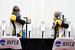 COLUMBUS, OH - MARCH 11:  Milica Babic, left, and Ginny Thrasher, of West Virginia University, compete during the Division I Rifle Championships held at The French Field House on the Ohio State University campus on March 11, 2017 in Columbus, Ohio. (Photo by Jay LaPrete/NCAA Photos via Getty Images)