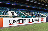 A general view of a Canterbury billboard alongside the pitch. The Clash, Aviva Premiership match, between Bath Rugby and Leicester Tigers on April 8, 2017 at Twickenham Stadium in London, England. Photo by: Patrick Khachfe / Onside Images