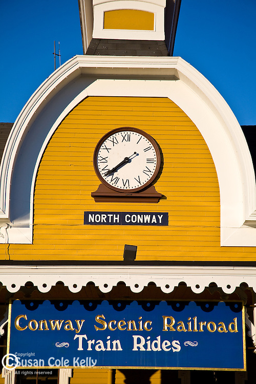 The Conway Scenic Railroad depot, North Conway, NH, USA