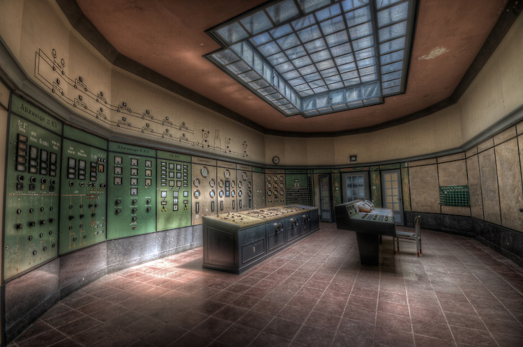 Disused power station in East Germany