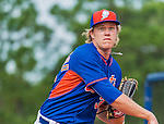 8 March 2015: New York Mets pitcher Noah Syndergaard warms up prior to a Spring Training game against the Boston Red Sox at Tradition Field in Port St. Lucie, Florida. The Mets fell to the Red Sox 6-3 in Grapefruit League play. Mandatory Credit: Ed Wolfstein Photo *** RAW (NEF) Image File Available ***