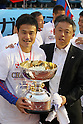 (L to R) Yasuyuki Konno,  Kiyoshi Okuma (FC Tokyo), .JANUARY 1, 2012 - Football / Soccer : The 91th Emperor's Cup Final match between Kyoto Sanga F.C. 4-2 F.C.Tokyo at National Stadium, in Tokyo, Japan. (Photo by Akihiro Sugimoto/AFLO SPORT) [1080]