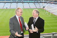 NO REPRO FEE. 19/10/2010. Ulster Bank Irish Franchise Association EXPO and Awards. Pictured at the launch of the Ulster Bank Irish Franchise Association EXPO and Awards which takes place on February 25th and 26th 2011 at Croke Park Dublin were Brian Hunt, Central Dublin Director of Business Banking, Ulster Bank and David Killeen, Chairman of The Irish Franchise Association.   See www.irishfranchiseassociation.com for information and to download entry forms and information on the exhibition. Picture James Horan/Collins Photos