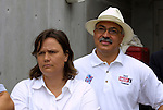 5 April 2003: Former Courage  head coach Marcia McDermott (left) and former general manager Jerome Ramsey. The Washington Freedom defeated the Carolina Courage 2-1 at SAS Stadium in Cary, NC in a regular season WUSA game.