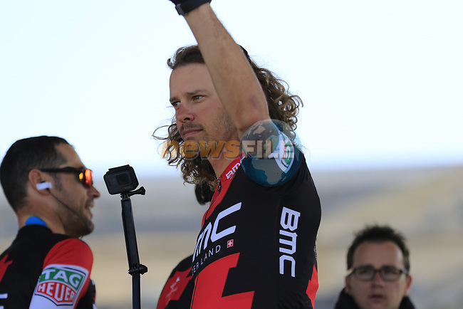 Daniel Oss (ITA) BMC Racing Team at sign on for the 115th edition of the Paris-Roubaix 2017 race running 257km Compiegne to Roubaix, France. 9th April 2017.<br /> Picture: Eoin Clarke | Cyclefile<br /> <br /> <br /> All photos usage must carry mandatory copyright credit (&copy; Cyclefile | Eoin Clarke)