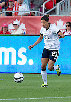02 June 2013: U.S. Women's National Team forward Christen Press #23 in action during an International Friendly soccer match between the U.S. Women's National Soccer Team and the Canadian Women's National Soccer Team at BMO Field in Toronto, Ontario.<br /> The U.S. Women's National Team Won 3-0.