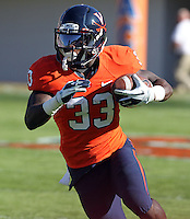 Oct. 15, 2011-Charlottesville, VA.-USA- Virginia Cavaliers running back Perry Jones (33) during the ACC football game against Georgia Tech at Scott Stadium. Virginia won 24-21. (Credit Image: © Andrew Shurtleff/