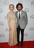 Nicole Kidman &amp; Dev Patel at the 2017 Producers Guild Awards at The Beverly Hilton Hotel, Beverly Hills, USA 28th January  2017<br /> Picture: Paul Smith/Featureflash/SilverHub 0208 004 5359 sales@silverhubmedia.com