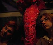 CENTRAL POLAND, FEBRUARY 2012:.Iwona and Meggi at 5:25 in train to Warsaw. They commute from Skierniewice and Zyrardow. About 500 thousand people commute everyday from other towns and villages to work in the Polish capital..(Photo by Piotr Malecki / Napo Images)..Luty 2012:.Iwona i Megi o 5:25 w pociagu do Warszawy. Okolo 500 tysiecy osob dojezdza codziennie z innych miast do pracy w Warszawie.  .Fot: Piotr Malecki / Napo Images
