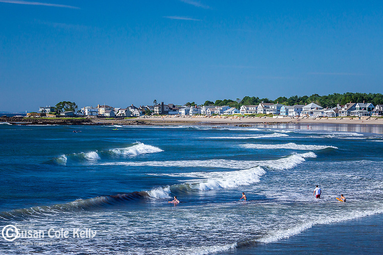 A beautiful summer day at Wallis Sands Beach in Rye, New Hampshire, USA