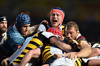 Kearnan Myall of Wasps in action at a maul. Aviva Premiership match, between Harlequins and Wasps on April 28, 2017 at the Twickenham Stoop in London, England. Photo by: Patrick Khachfe / JMP