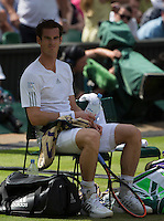 ANDY MURRAY (GBR)<br /> <br /> The Championships Wimbledon 2014 - The All England Lawn Tennis Club -  London - UK -  ATP - ITF - WTA-2014  - Grand Slam - Great Britain -  2nd July 2014. <br /> <br /> &copy; AMN IMAGES