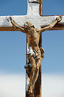 Crucifix on the peak of The little Matterhorn , Zermatt ,