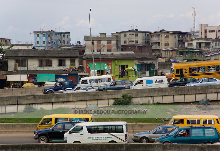 "Lagos, Nigeria's most populous city, is famous for its traffic jams, referred to as ""go slow.""  A popular Nigerian saying is that, ""If you haven't seen Lagos, you haven't seen Nigeria."""