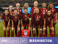 Washington, D.C. - March 7, 2017: France goes up 2-0 over the U.S. Women's national team early in the first half in a SheBelieves Cup match at RFK Stadium.