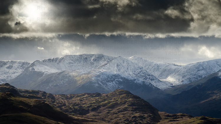 Stormy skies over Cumbrian mountains