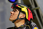 Philippe Gilbert (BEL) Quick-Step Floors team on stage at sign on before the 101st edition of the Tour of Flanders 2017 running 261km from Antwerp to Oudenaarde, Flanders, Belgium. 26th March 2017.<br /> Picture: Eoin Clarke | Cyclefile<br /> <br /> <br /> All photos usage must carry mandatory copyright credit (&copy; Cyclefile | Eoin Clarke)