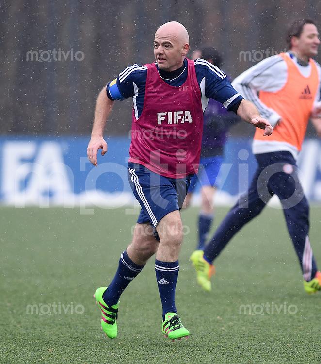 Fussball International 29.02.2016 FIFA Praesident Gianni Infantino (Schweiz), erster Tag im Home of Fifa