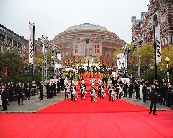Red Carpet.'Skyfall' Royal World Film Premiere, Royal Albert Hall, Kensington Gore, London, England..23rd October 2012.gv general view crowd drummers drums uniform atmosphere  .CAP/CAS.©Bob Cass/Capital Pictures.