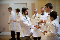 White Coat Ceremony, class of 2015. Bryan Brown, left, Stephen Leffler, M.D.