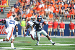 Ole Miss running back Jeff Scott (3) vs. Auburn defensive back Jermaine Whitehead (9) at Vaught-Hemingway Stadium in Oxford, Miss. on Saturday, October 13, 2012. (AP Photo/Oxford Eagle, Bruce Newman)..