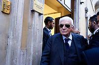 Roma  23 Aprile 2013.Si riunusce  la direzione nazionale del Partito Democratico. Sergio Zavoli