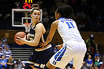 01 February 2016: Notre Dame's Kathryn Westbeld (33) and Duke's Azura Stevens (11). The Duke University Blue Devils hosted the University of Notre Dame Fighting Irish at Cameron Indoor Stadium in Durham, North Carolina in a 2015-16 NCAA Division I Women's Basketball game. Notre Dame won the game 68-61.