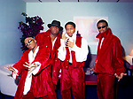 R&B group Dru Hill back stage at their Dallas, Texas show at the Bronco Bowl on May 2, 1995.  Photo credit: Elgin Edmonds / Presswire News