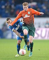 FUSSBALL   1. BUNDESLIGA  SAISON 2012/2013   15. Spieltag TSG 1899 Hoffenheim - SV Werder Bremen    02.12.2012 Daniel Williams (li, TSG 1899 Hoffenheim) gegen Kevin De Bruyne (SV Werder Bremen)