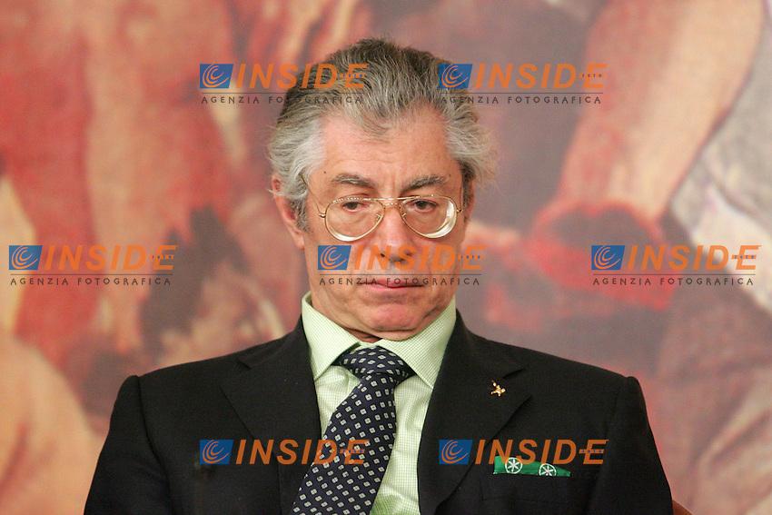 ROBERTO CALDEROLI.Roma 30/06/2010 Conferenza stampa al termine della relazione del ministro dell'economia sul Federalismo Fiscale.Photo Samantha Zucchi Insidefoto