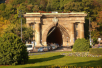 Szecheni Lanchid ( Chain Bridge ) Tunnel. Budapest Hungary
