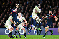 Maro Itoje of England claims the ball in the air. RBS Six Nations match between England and France on February 4, 2017 at Twickenham Stadium in London, England. Photo by: Patrick Khachfe / Onside Images