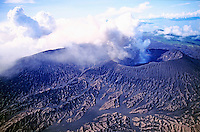 Mount Bembow, an active volcano on the island of Ambrym, Vanuatu.