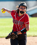 LITCHFIELD,  CT-051717JS11- Wamogo's Cyrena Zemaitis (13) delivers a pitch during their Berkshire League match-up with Nonnewaug Wednesday at Wamogo High School in Litchfield. <br /> Jim Shannon Republican-American