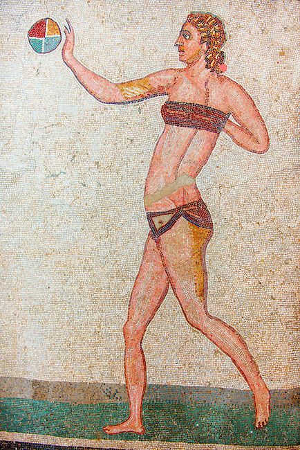 The Bikini Girls Mosaic Villa Romana Sicily