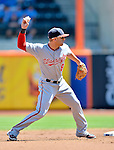 25 July 2012: Washington Nationals infielder Danny Espinosa in action against the New York Mets at Citi Field in Flushing, NY. The Nationals defeated the Mets 5-2 to sweep their 3-game series. Mandatory Credit: Ed Wolfstein Photo