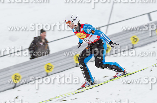 16.12.2011, Casino Arena, Seefeld, AUT, FIS Nordische Kombination, Ski Springen Team HS 109, im Bild Sergej Maslennikov (RUS) // Sergej Maslennikov of Russia during Ski jumping the team competition at FIS Nordic Combined World Cup in Sefeld, Austria on 20111211. EXPA Pictures © 2011, PhotoCredit: EXPA/ P.Rinderer