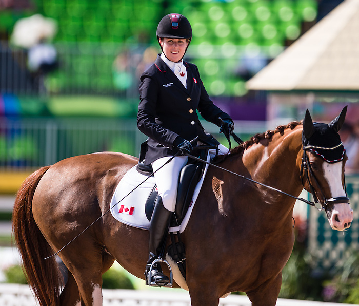 RIO DE JANEIRO - 13/09/2016 Roberta Sheffield competes in Women's Dressage Individual Championship Test Grade III at the Rio 2016 Paralympic Games at the Olympic Equestrian Centre. (Photo by Angela Burger/Canadian Paralympic Committee)