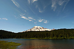 Various views of Mt. Rainier, and Reflection Lake. Mount Rainier is a heavily glaciated, dormant volcano surrounded by alpine parks. The 14,411 foot volcano which covers 228,480 acres was designated a National Park in 1899. Washington. Jim Bryant Photo. ©2014. All Rights Reserved.