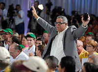 Donegal Racing partner and part owner of Dullahan Mark Weiner reacts during the Post Position Draw for the 138th Kentucky Derby at Churchill Downs in Louisville, Kentucky on May 2, 2012.