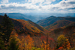 Autumn color over the Cowee Mountains