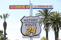 03/20/15 Auto Club Speedway Street signs honoring Jeff Gordon in his final NASCAR season