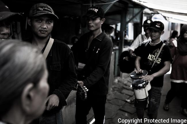 Traveling band, Yojakarta, Indonesia